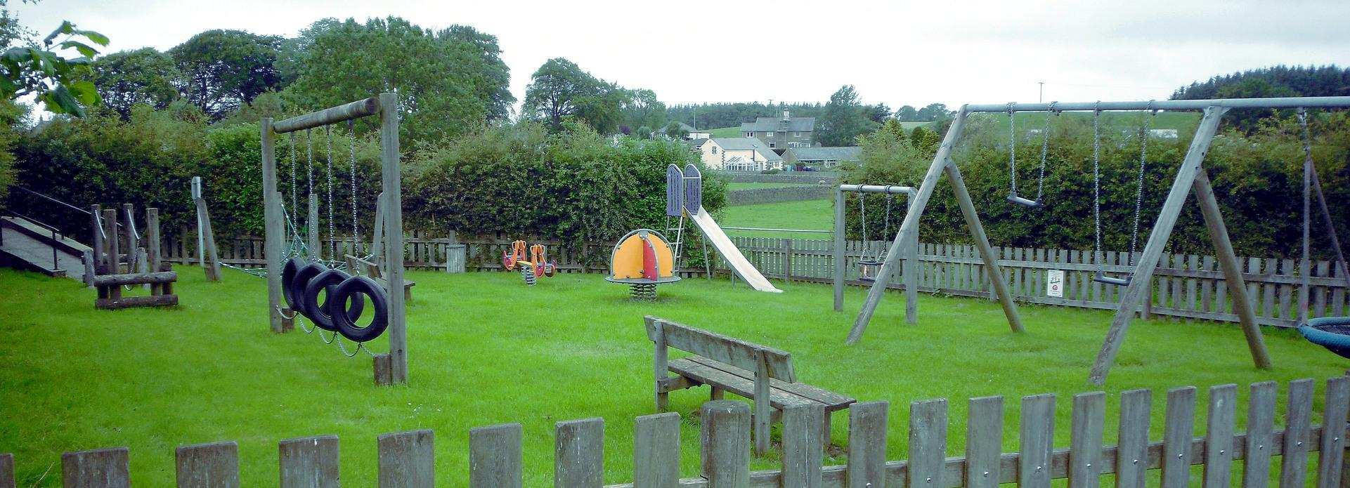 A view of the children's play area on Crossgates road